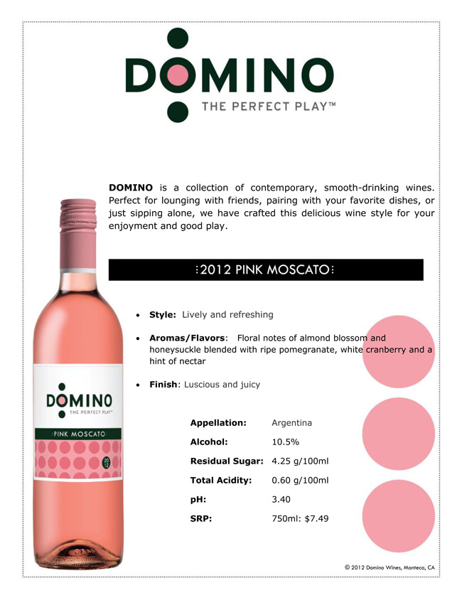 Domino 2012 Pink Moscato